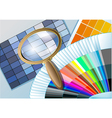 Color table with a magnifying glass vector