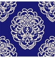 Seamless blue damask vector