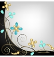 Jewelry pattern border vector