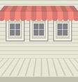 Flat design awning with three windows vector