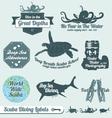 Scuba diving labels vector
