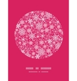 Snowflake texture circle frame pattern background vector