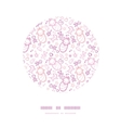 Baby girls circle decor frame pattern background vector