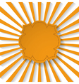 Orange paper frame vector