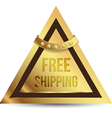 Triangles gold tag free shipping vector