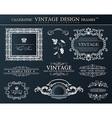 Vintage black frames ornament set element decor vector