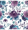 Flowers watercolor pattern wallpaper textile vector