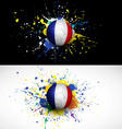 France flag with soccer ball dash on colorful vector