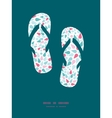 Abstract colorful drops flip flops vector