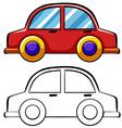 Doodles car vector