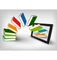 Library in e book vector