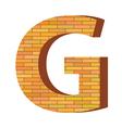 Brick letter g vector