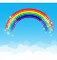 Rainbow cloud and sky background 002 vector