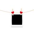 Hearts clothespins 10 vector