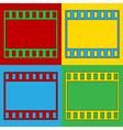 Pop art film strip icons vector