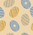 Easter egg seamless pattern vector