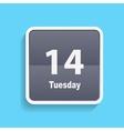 Flat calendar icon vector