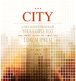 Abstract banner for business with the city vector