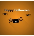 Happy halloween label with spider vector