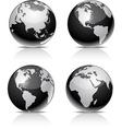 Black earth balls vector