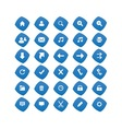 Web blue icons vector