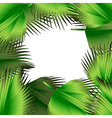 Tropical green leaves vector