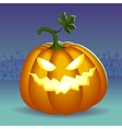 Angry helloween pumpkin vector