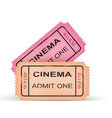 Two cinema tickets vector