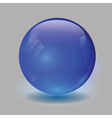 Blue glass ball vector