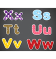 Six different letters vector