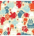 Robots seamless background vector