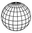 Globe meridians vector