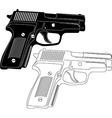 Gun silhouette vector