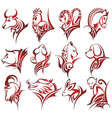 Chinese zodiac signs vector