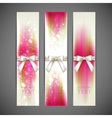 Holiday banners with white bows and ribbons vector