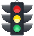 Traffic lights on white background vector