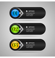 Black colorful options banners or buttons vector