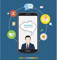 Smartphone design concept icons vector