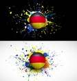 Germany flag with soccer ball dash on colorful vector