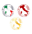 Made in italy stamp vector