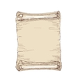 Hand drawn old scroll vector