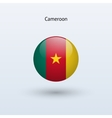 Cameroon round flag vector