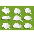 Cloud speech bubble collection vector