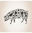 Pig from birds vector