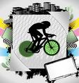 Cyclist summer frame vector