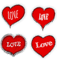 Heart collection for love vector