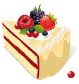 White vanilla cake vector