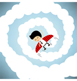 Businessman rocket flying with wings eps10 vector
