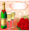 Christmas champagne background vector