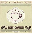 Vintage label coffee shop vector